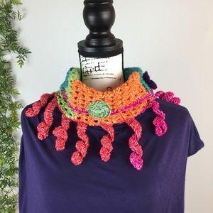 Handmade crochet neck warmer.